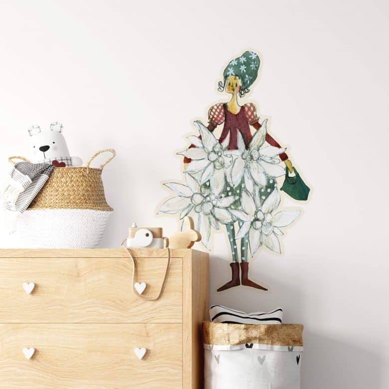 Wall sticker Leffler – Flower girl January