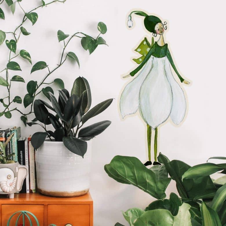 Wall sticker Leffler – Flower girl February