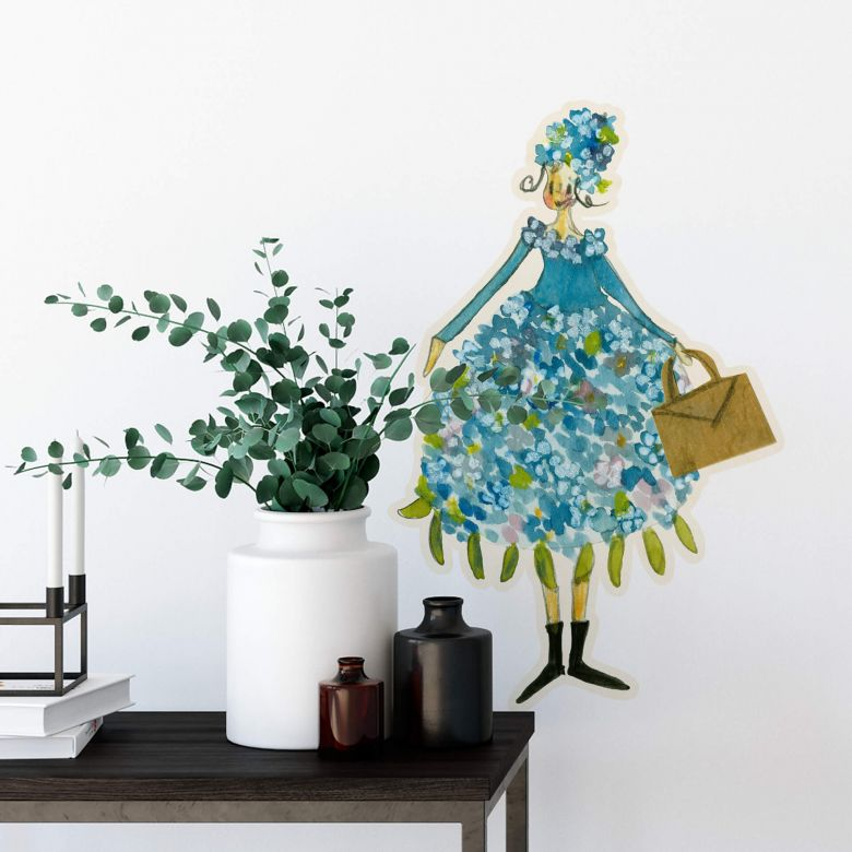 Wall sticker Leffler – Flower girl June