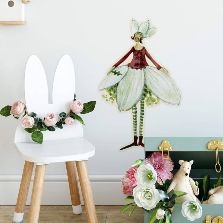 Wall sticker Leffler – Flower girl November