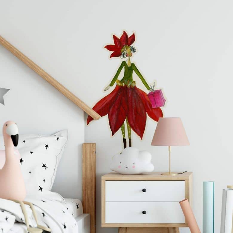Wall sticker Leffler – Flower girl December