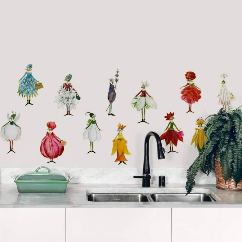 Wall sticker set Leffler – Flower girls