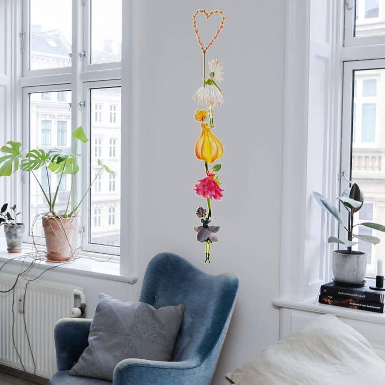 Wall sticker Blanz – Heart of Flowers