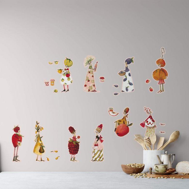 Wall sticker set Leffler – Marmelade girls