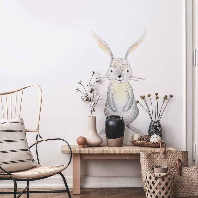 Wall sticker Kvilis - Cute Hare