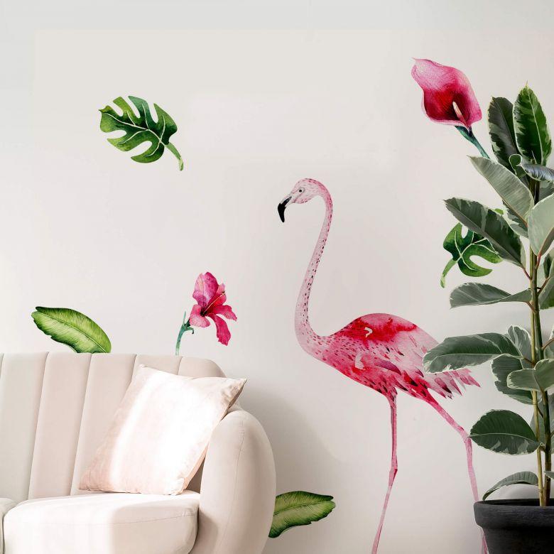 Wall sticker Kvilis - Flamingo Set 01