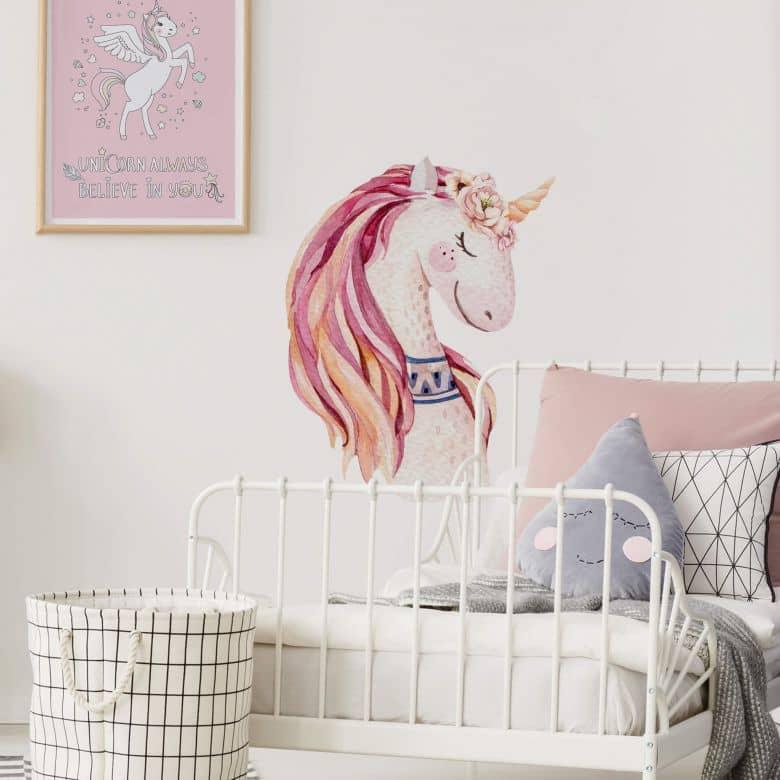 Wall sticker Kvilis - Unicorn pink