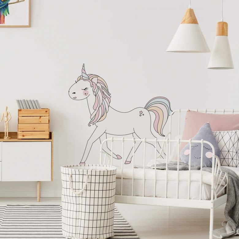 Wall sticker Kvilis - Unicorn illustration