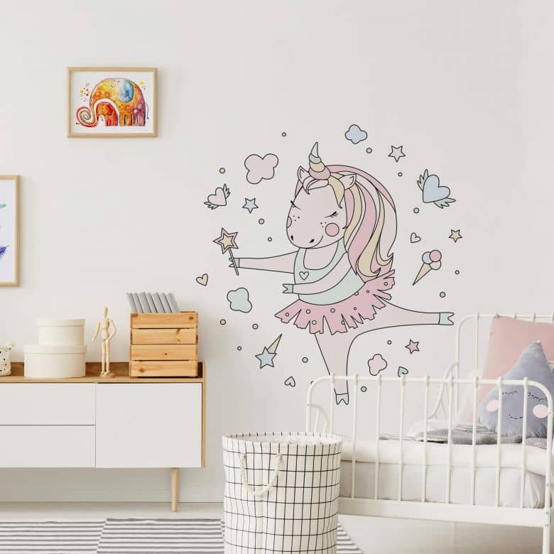 Wall sticker Kvilis - Dancing unicorn