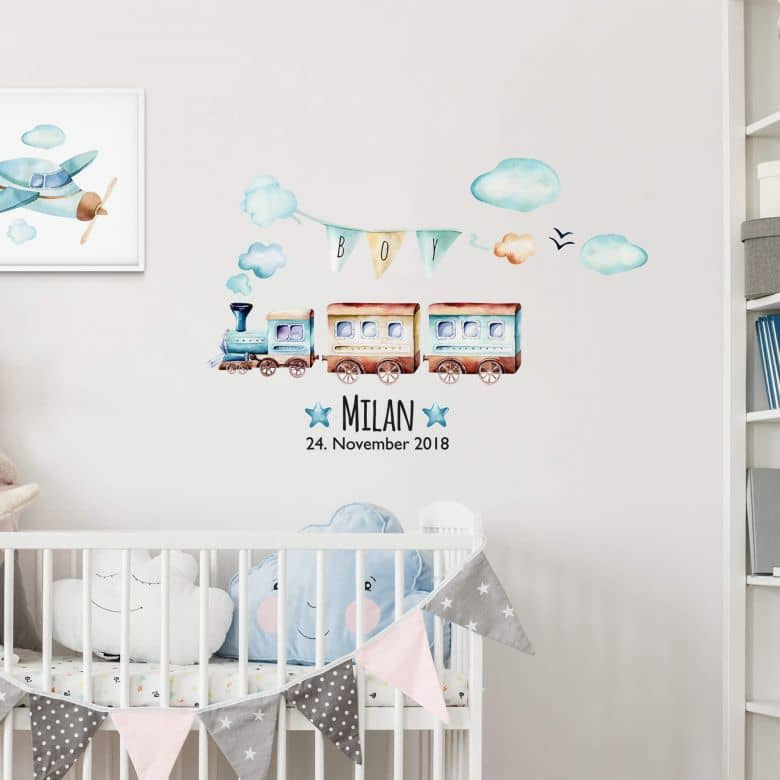 Wall sticker Kvilis - Train + Name
