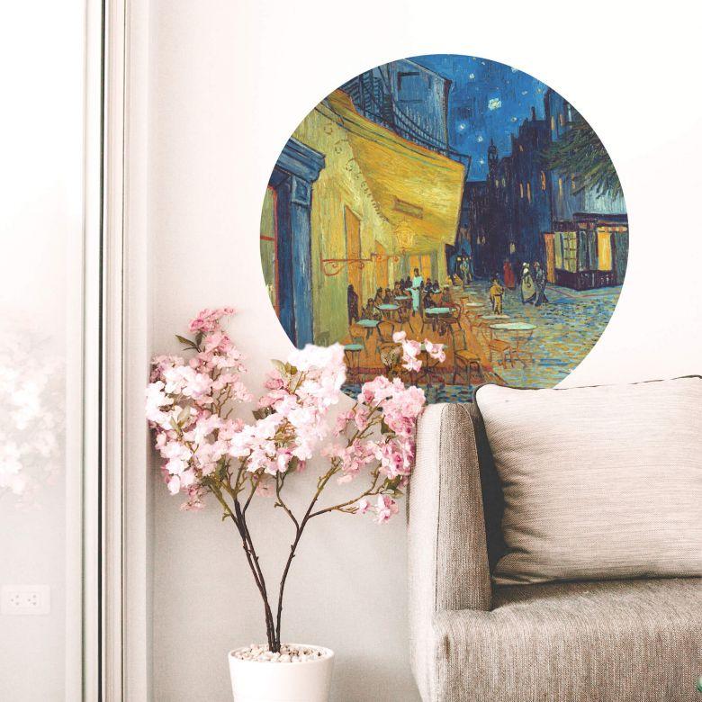 Wandtattoo Van Gogh - Café Terrasse - Rund