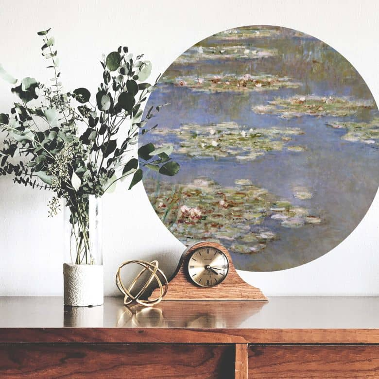 Wall Sticker Monet - Water lillies 1905 - Round
