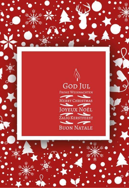 Carte cadeau Noël - Rouge