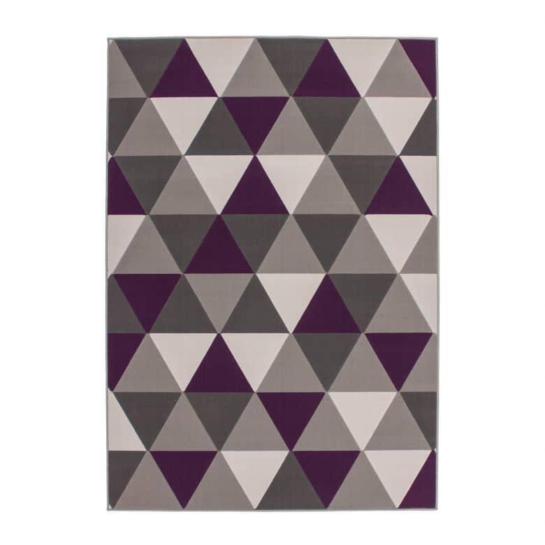 Designteppich Now! 200 Multi / Violett 120cm x 170cm