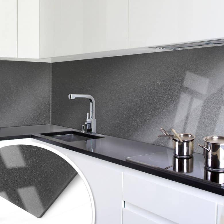 Küchenrückwand - Acrylglas Perleffekt Grau | wall-art.de