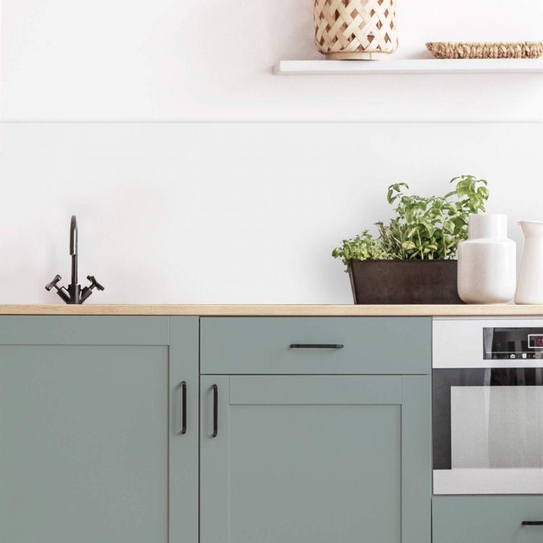 Küchenrückwand Alu-Dibond weiß