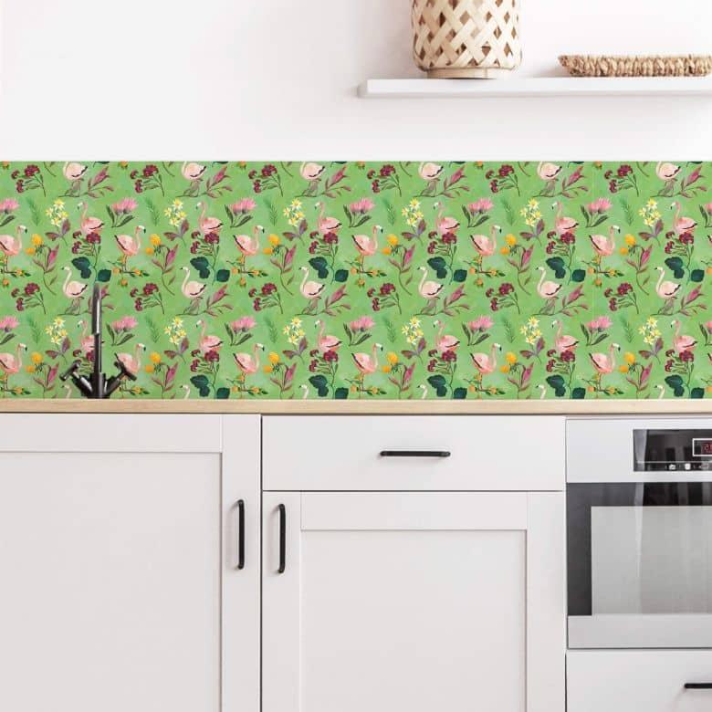 Küchenrückwand Blanz - Flamingo