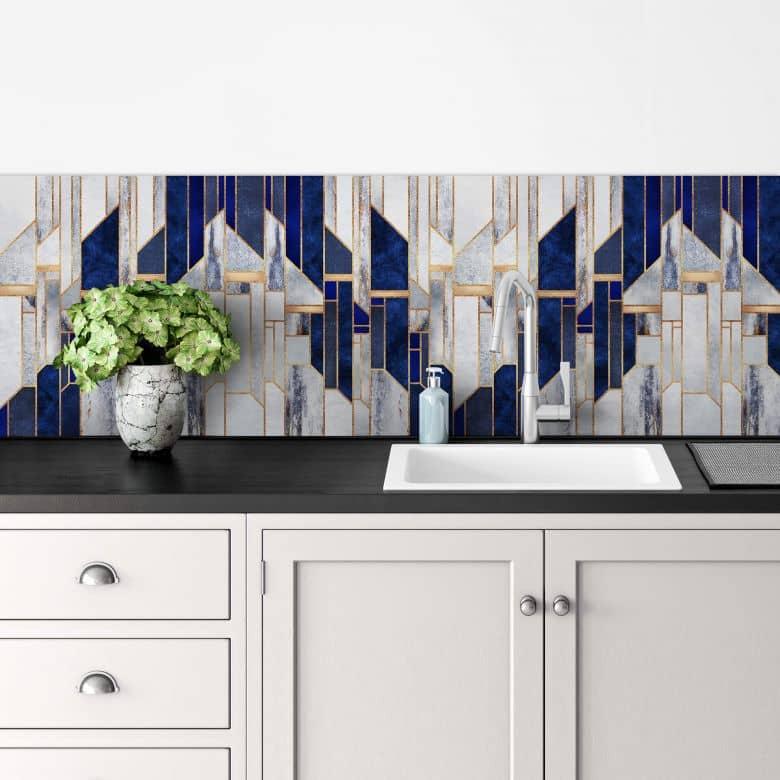 Küchenrückwand Fredriksson - Blauer Winterhimmel