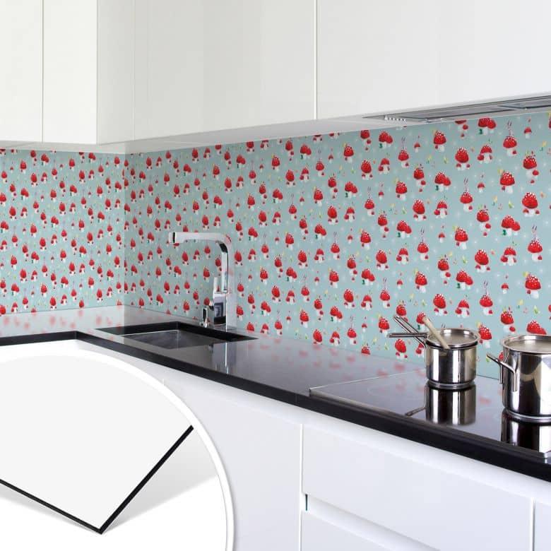 Küchenrückwand - Alu Dibond - Glückspilze