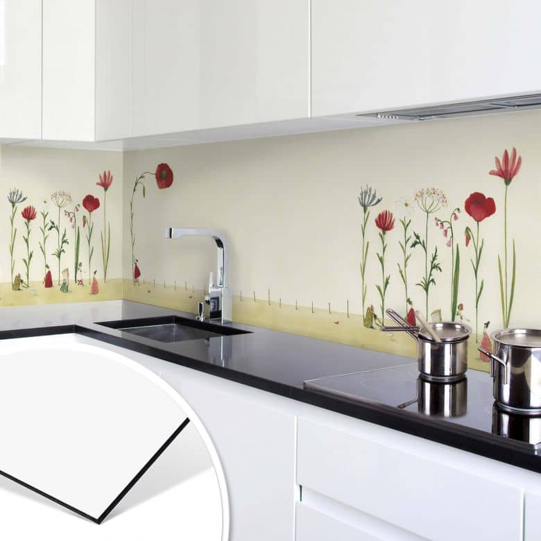 Kitchen rear panel Leffler – Lonely Flower