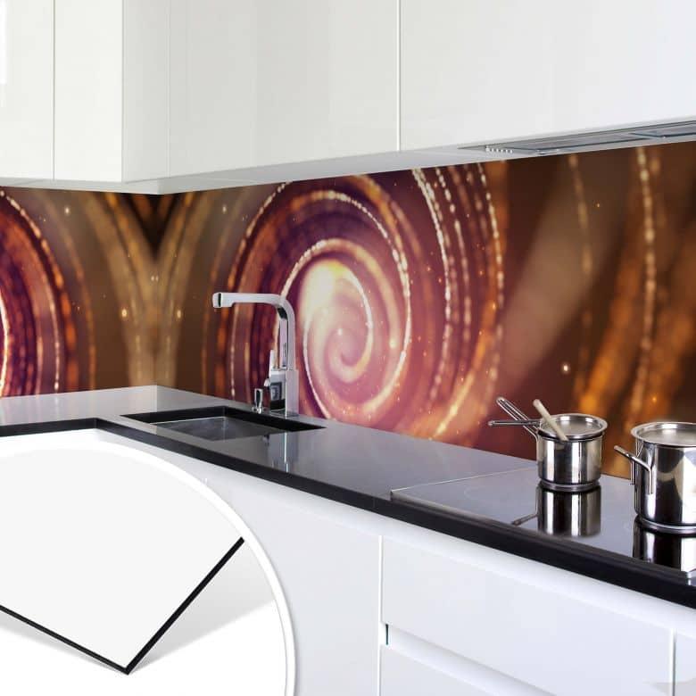 Revêtement pour cuisine - Alu-Dibond - Effet de lumière 04