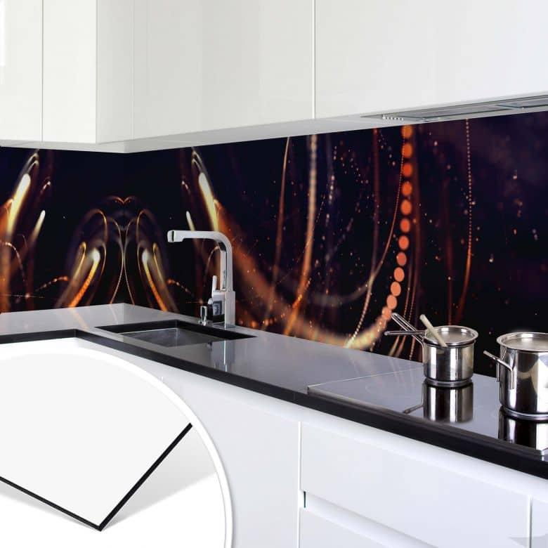 Revêtement pour cuisine - Alu-Dibond Effet de lumière 03