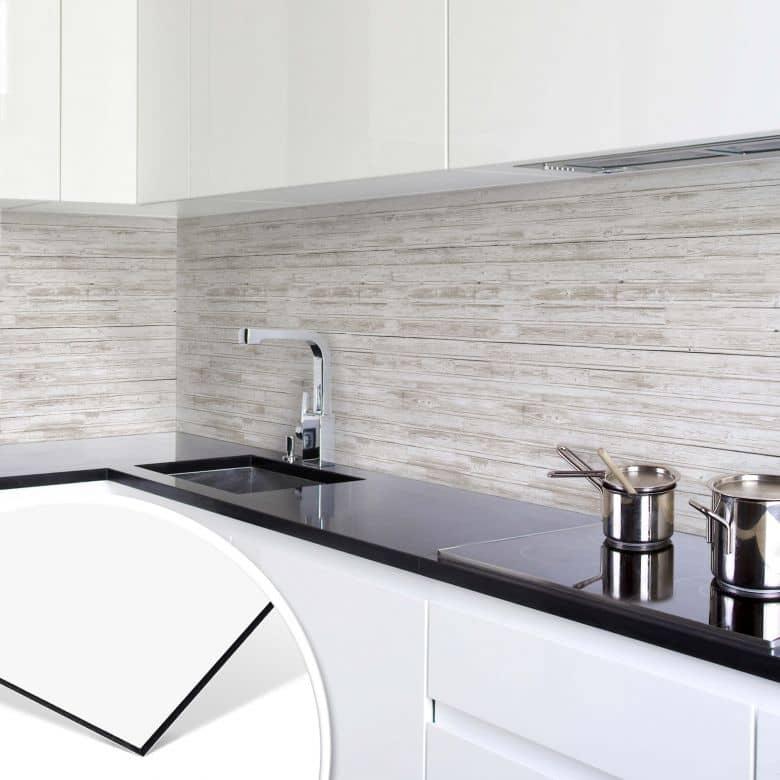 Rivestimento per cucina legno shabby chic wall for Rivestimenti adesivi per pareti cucina