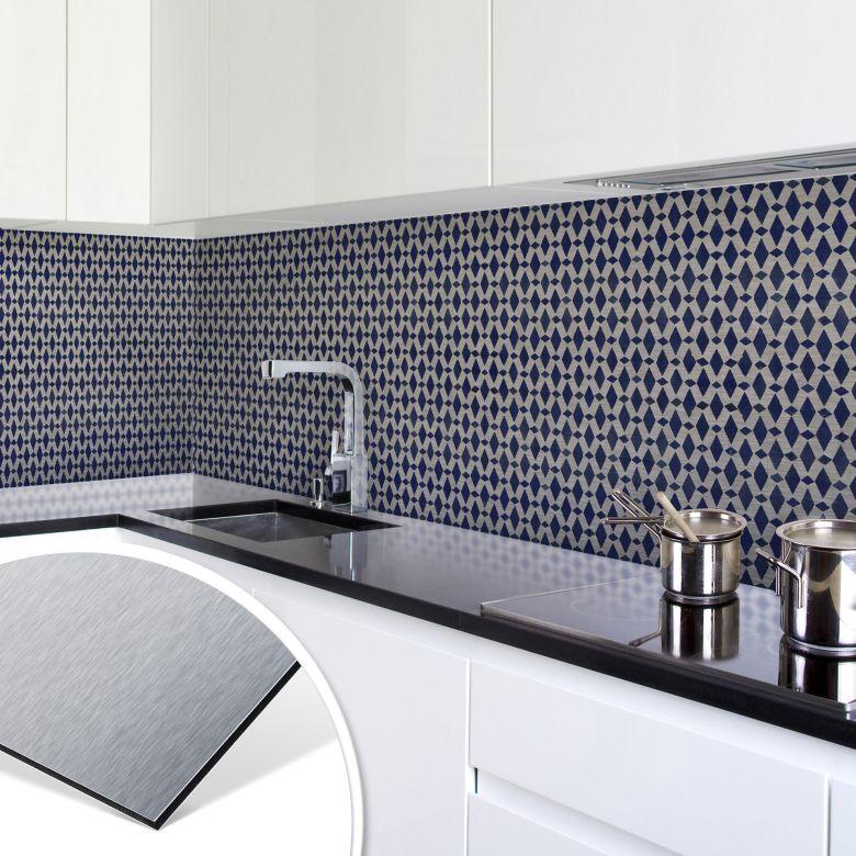 k chenr ckwand alu dibond silber holland kacheln 02 wall. Black Bedroom Furniture Sets. Home Design Ideas