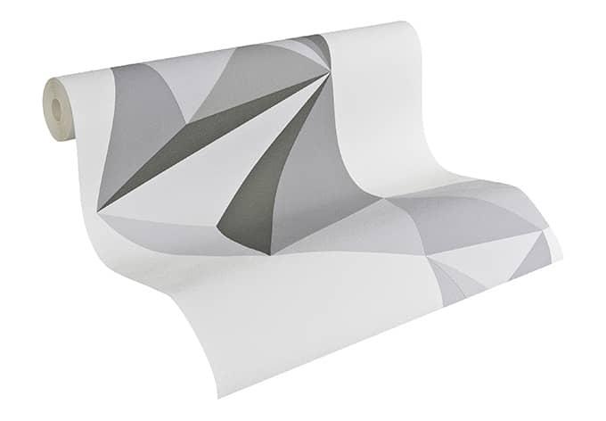 Lars Contzen Tapete Origami Signalgrau, Telegrau, Moosgrau | wall-art.de
