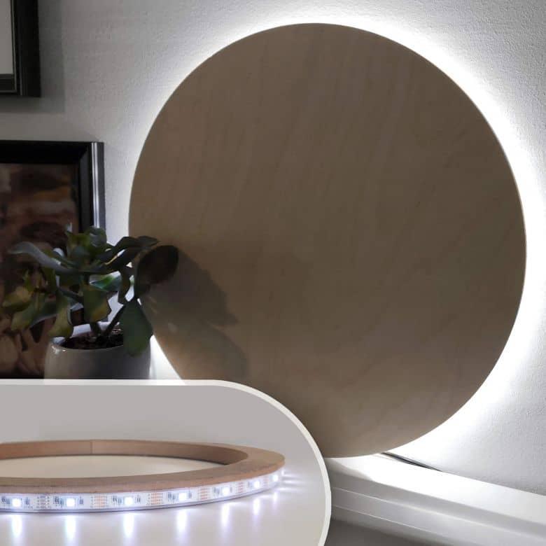 LED Lichtring voor Wandcirkels (26 cm)