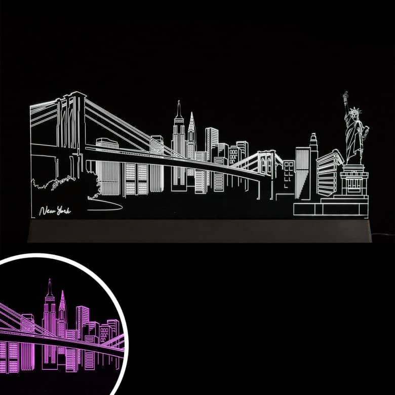 Decorazione LED Skyline New York