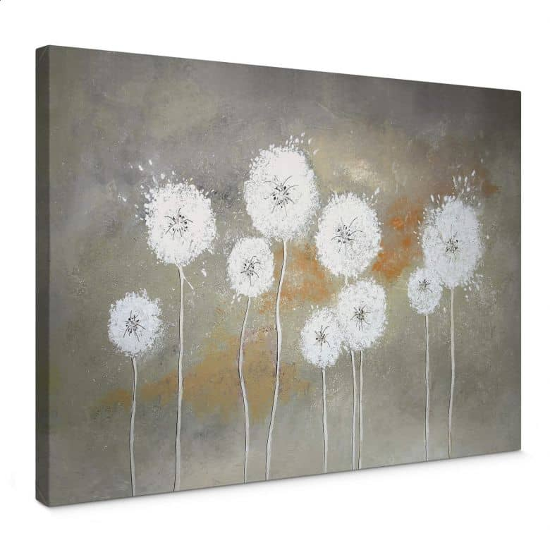 Leinwandbild Melz - Weiße Pusteblumen