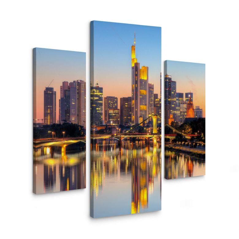 Leinwandbild Frankfurter Lichter (3-teilig)