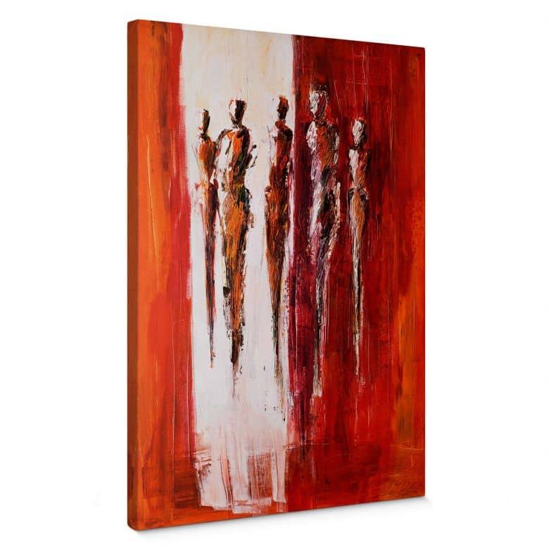Leinwandbild Schüßler - Fünf Figuren in Rot