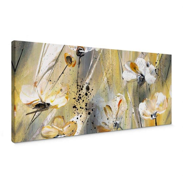 Tableau sur toile Niksic - Petite fleur - Panorama