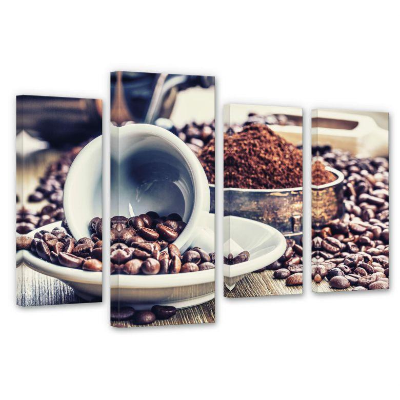 Leinwandbild Kaffeeträume (4-teilig)