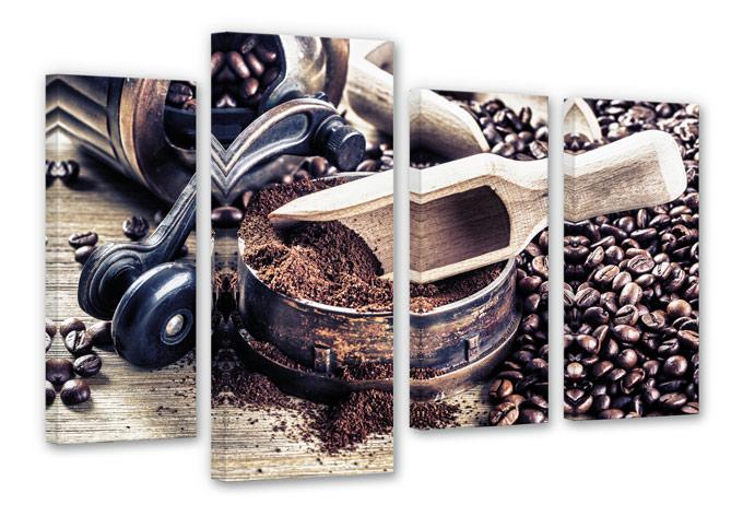 leinwandbild kaffeeduft 4 teilig von k l wall art wall. Black Bedroom Furniture Sets. Home Design Ideas