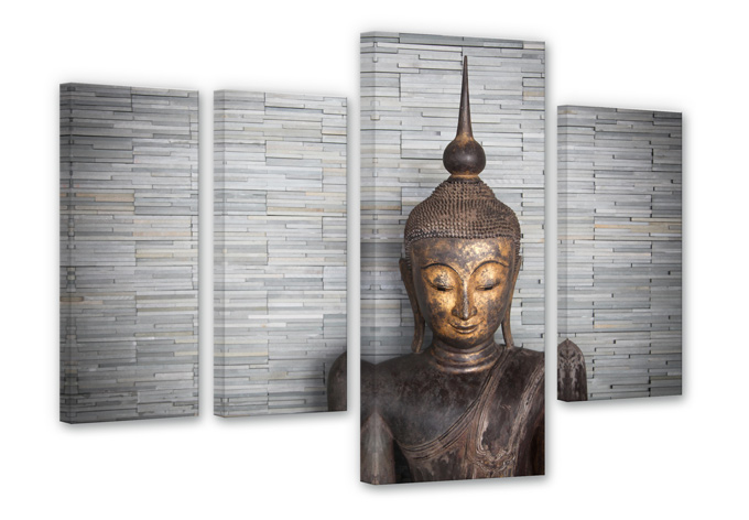 Stampa su tela - Tailandia Buddha(quattro parti)