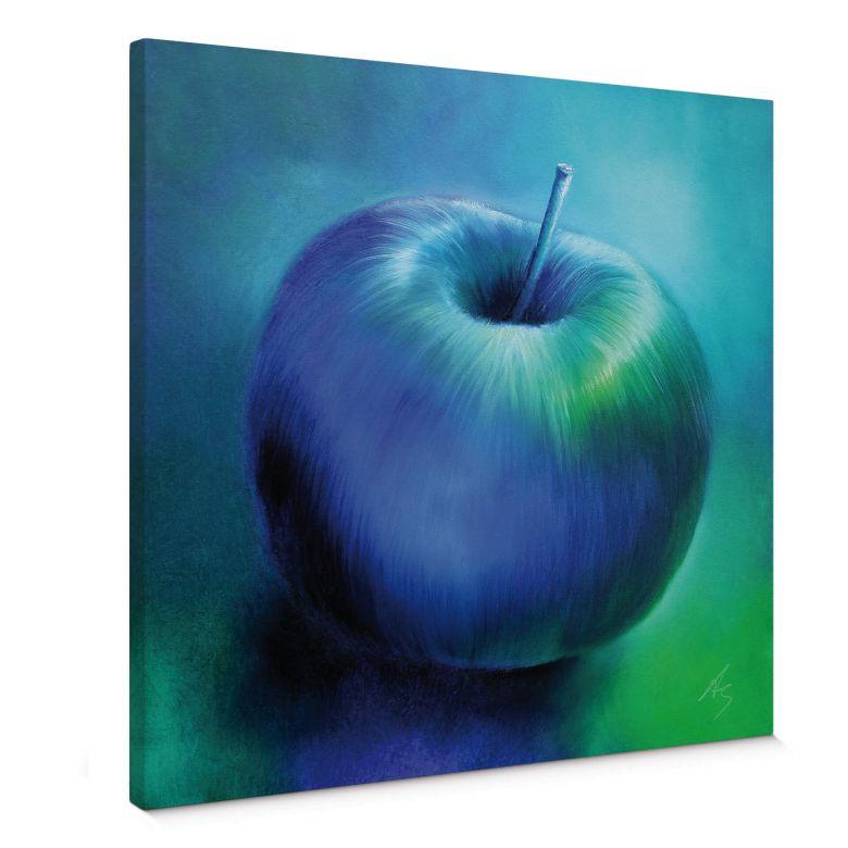 Leinwandbild Schmucker - Blauer Apfel