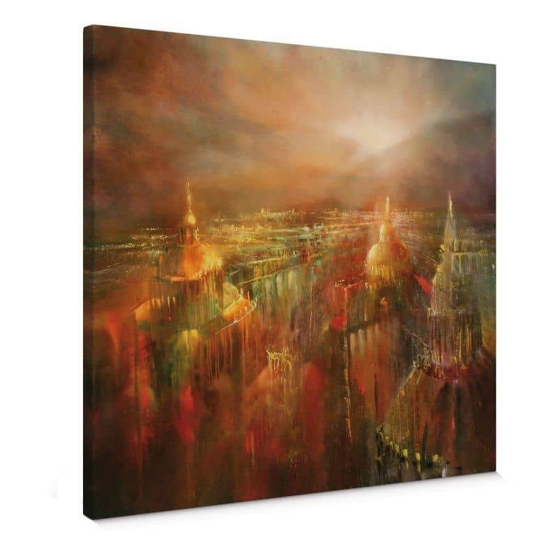 Leinwandbild Schmucker -  Die Stadt erwacht