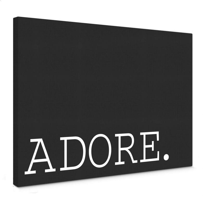 Leinwandbild - Adore s/w