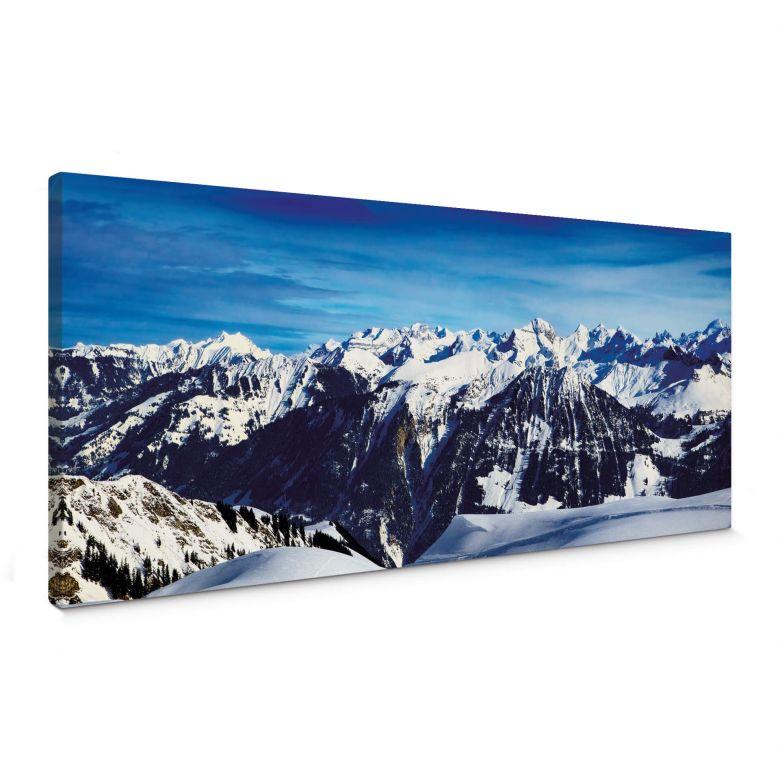 Leinwandbild Alpenpanorama