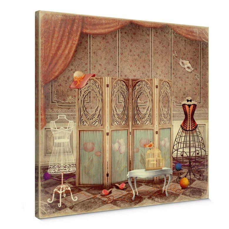 Leinwandbild Ankleidezimmer einer Prinzessin