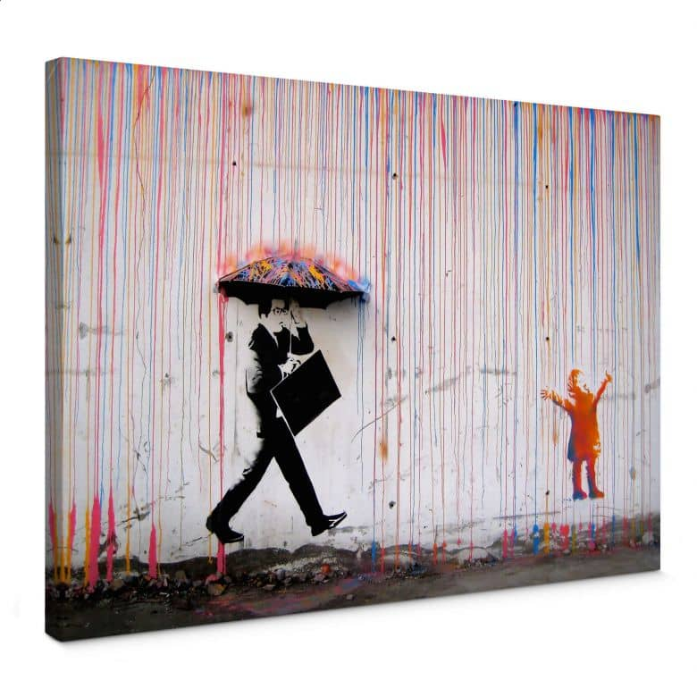 Leinwandbild Banksy - Coloured Rain