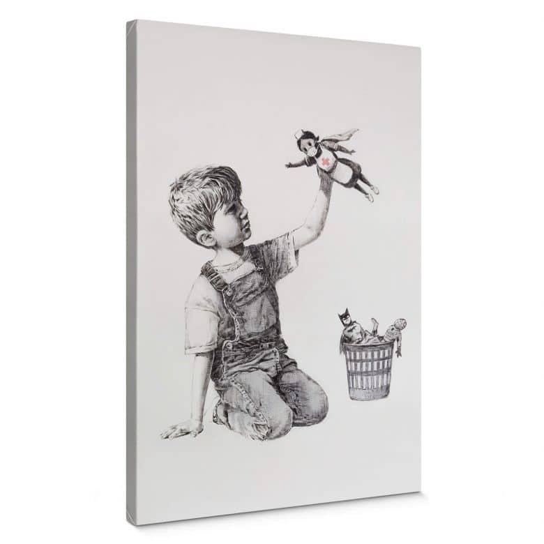 Leinwandbild Banksy - Real Hero