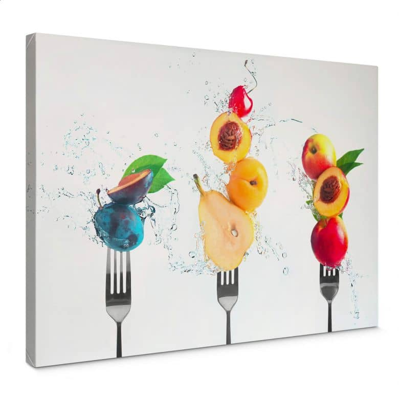 Canvas Print Belenko – Splashing Fruits