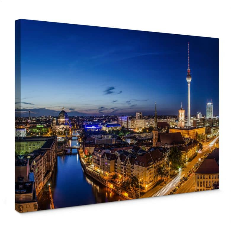 Leinwandbild Berlin Panorama