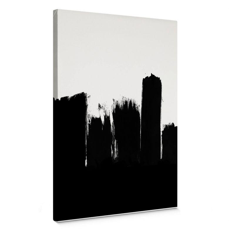 Leinwandbild Black brush