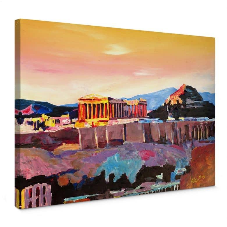 Leinwandbild Bleichner - Akropolis in Athen