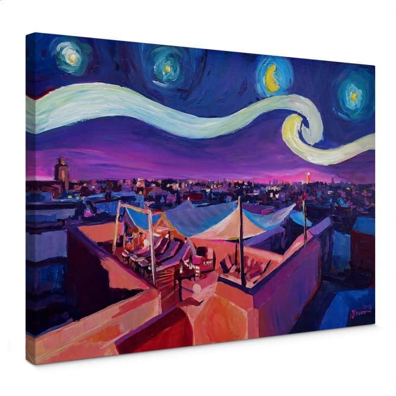 Leinwandbild Bleichner - Marrakesch bei Nacht